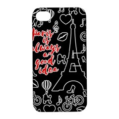 Paris Apple iPhone 4/4S Hardshell Case with Stand