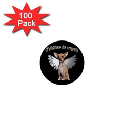 Angel Chihuahua 1  Mini Buttons (100 pack)
