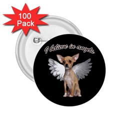 Angel Chihuahua 2.25  Buttons (100 pack)