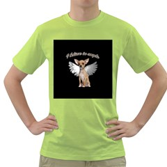 Angel Chihuahua Green T-Shirt