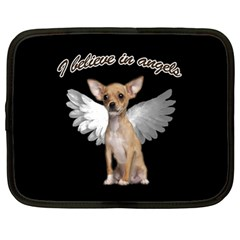 Angel Chihuahua Netbook Case (Large)