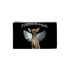 Angel Chihuahua Cosmetic Bag (Small)