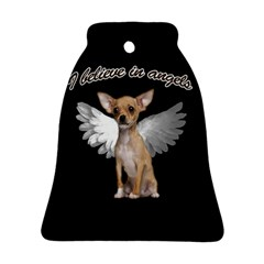 Angel Chihuahua Bell Ornament (Two Sides)