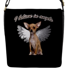 Angel Chihuahua Flap Messenger Bag (S)