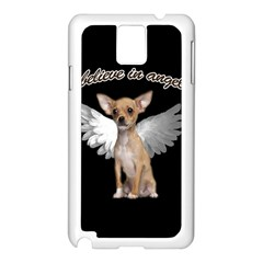 Angel Chihuahua Samsung Galaxy Note 3 N9005 Case (White)