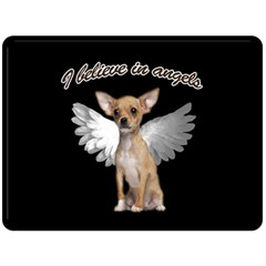 Angel Chihuahua Double Sided Fleece Blanket (Large)