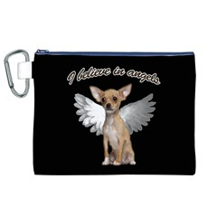 Angel Chihuahua Canvas Cosmetic Bag (XL)