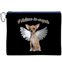 Angel Chihuahua Canvas Cosmetic Bag (XXXL)
