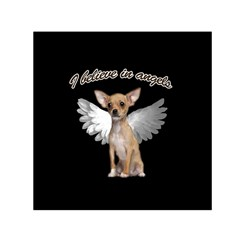 Angel Chihuahua Small Satin Scarf (Square)