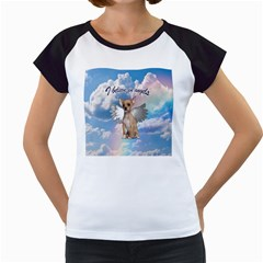 Angel Chihuahua Women s Cap Sleeve T