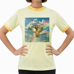 Angel Chihuahua Women s Fitted Ringer T-Shirts