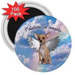 Angel Chihuahua 3  Magnets (100 pack)
