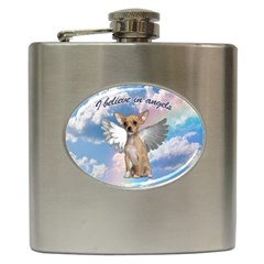Angel Chihuahua Hip Flask (6 oz)