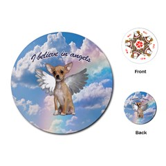 Angel Chihuahua Playing Cards (Round)