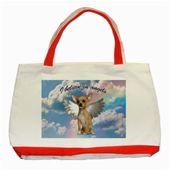 Angel Chihuahua Classic Tote Bag (Red)