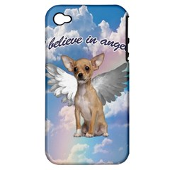 Angel Chihuahua Apple iPhone 4/4S Hardshell Case (PC+Silicone)