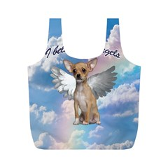 Angel Chihuahua Full Print Recycle Bags (M)