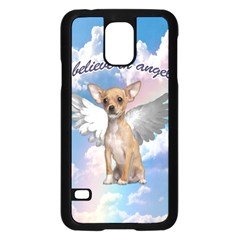 Angel Chihuahua Samsung Galaxy S5 Case (Black)