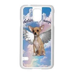 Angel Chihuahua Samsung Galaxy S5 Case (White)