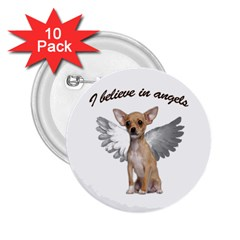 Angel Chihuahua 2.25  Buttons (10 pack)
