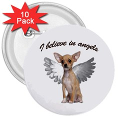 Angel Chihuahua 3  Buttons (10 pack)