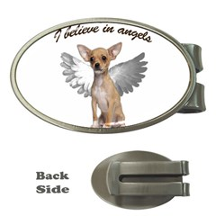 Angel Chihuahua Money Clips (Oval)