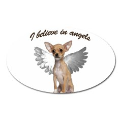 Angel Chihuahua Oval Magnet