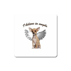Angel Chihuahua Square Magnet