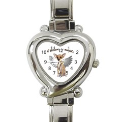 Angel Chihuahua Heart Italian Charm Watch