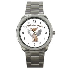 Angel Chihuahua Sport Metal Watch