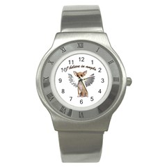 Angel Chihuahua Stainless Steel Watch