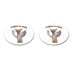 Angel Chihuahua Cufflinks (Oval)