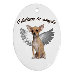 Angel Chihuahua Oval Ornament (Two Sides)