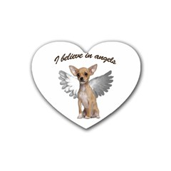 Angel Chihuahua Rubber Coaster (Heart)