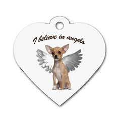 Angel Chihuahua Dog Tag Heart (Two Sides)
