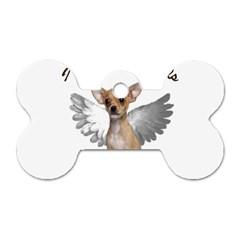 Angel Chihuahua Dog Tag Bone (Two Sides)