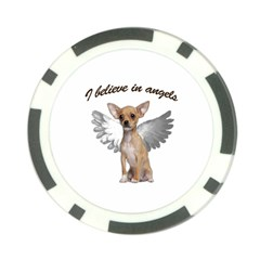 Angel Chihuahua Poker Chip Card Guard (10 pack)