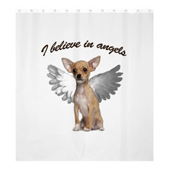 Angel Chihuahua Shower Curtain 66  x 72  (Large)