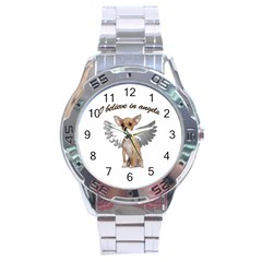 Angel Chihuahua Stainless Steel Analogue Watch