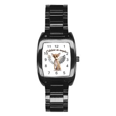 Angel Chihuahua Stainless Steel Barrel Watch