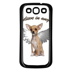 Angel Chihuahua Samsung Galaxy S3 Back Case (Black)