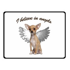 Angel Chihuahua Double Sided Fleece Blanket (Small)