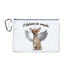 Angel Chihuahua Canvas Cosmetic Bag (M)