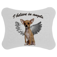 Angel Chihuahua Jigsaw Puzzle Photo Stand (Bow)