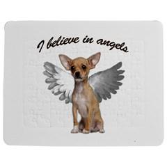 Angel Chihuahua Jigsaw Puzzle Photo Stand (Rectangular)