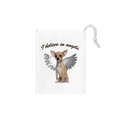 Angel Chihuahua Drawstring Pouches (XS)