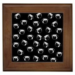 Pug dog pattern Framed Tiles