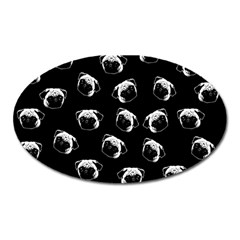 Pug dog pattern Oval Magnet