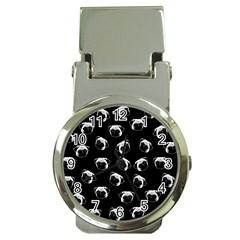 Pug dog pattern Money Clip Watches