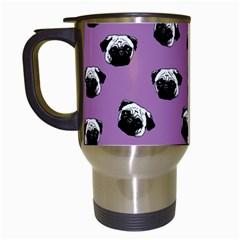 Pug dog pattern Travel Mugs (White)